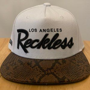 Young & Reckless Adjustable Snapback Hat - White